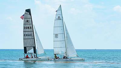 Photograph - Catamarans Delray Beach Florida by Lawrence S Richardson Jr