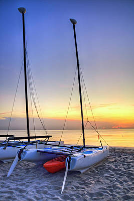 Photograph - Catamarans In The Morning Light by Debra and Dave Vanderlaan