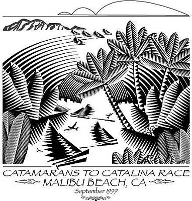Digital Art - Catamarans To Catalina Race by John Mabry