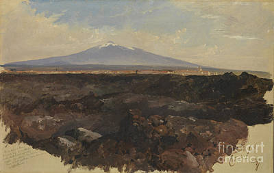 Etna Painting - Catania And Mount Etna by Celestial Images