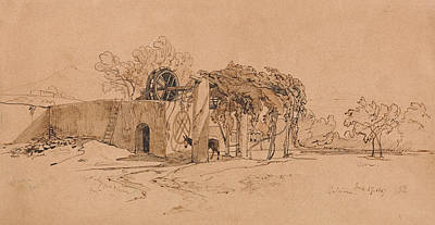 Drawing - Catania by Edward Lear