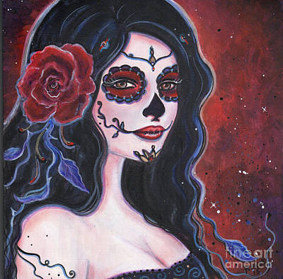 Day Of The Dead Painting - Catania by Renee Lavoie