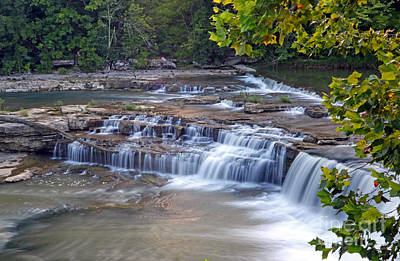Owens River Photograph - Cataract Falls Indiana by Steve  Gass