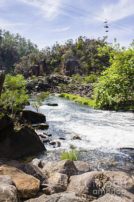 Park Holidays Photograph - Cataract George Landscape In Launceston Tasmania by Jorgo Photography - Wall Art Gallery
