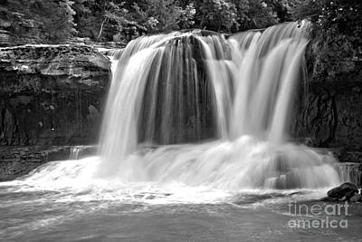 Photograph - Cataract Twin Falls Black And White by Adam Jewell