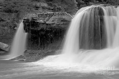 Photograph - Cataract Waterfall Ghosts Black And Whitea by Adam Jewell