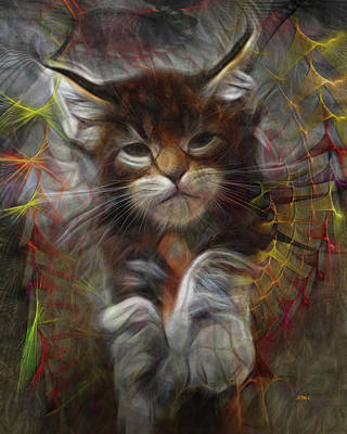 Digital Art - Catatude by John Beck