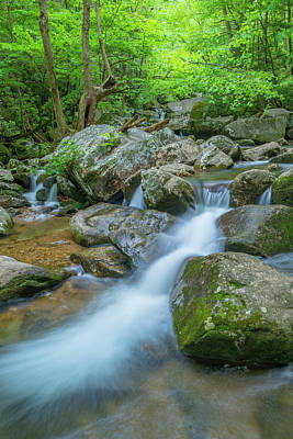 Photograph - Catawba Stream Cascades At High Shoals Falls In North Carolina by Ranjay Mitra