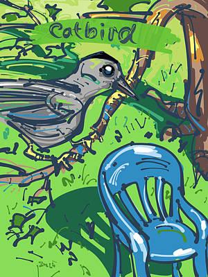 Catbird Art Print by Brett LaGue