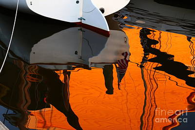 Photograph - Catboat Reflection by Marty Fancy