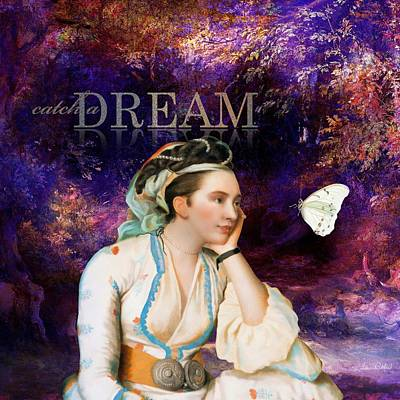 Woman Painting - Catch A Dream by Laura Botsford