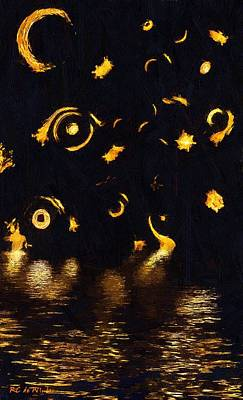 Mystical Landscape Painting - Catch A Falling Star by RC deWinter