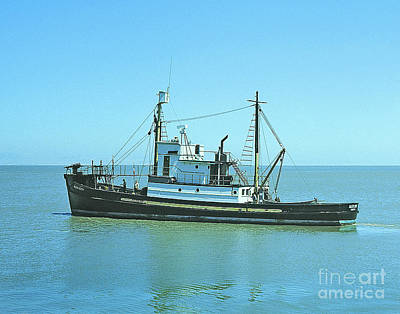 Photograph - Catch Boat Allen Cody For Del Monte Fishing Co. Taken On July 5  by California Views Mr Pat Hathaway Archives