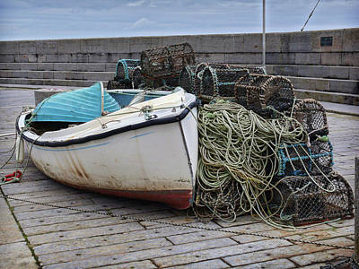 Catch Of The Day At Donaghadee Harbour Art Print