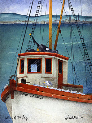 Monterey Painting - Catch Of The Day... by Will Bullas