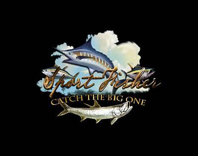 Digital Art - Catch The Big One by Peggy Novak