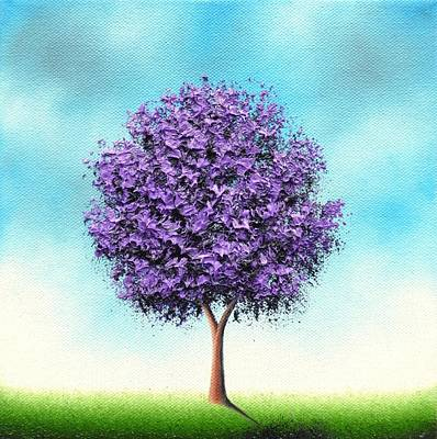 Modern Tree Painting - Catch Today by Rachel Bingaman
