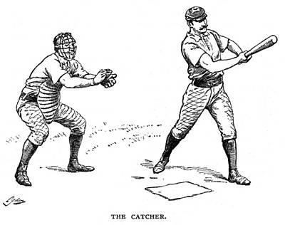 Catcher & Batter, 1889 Art Print by Granger