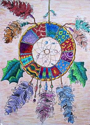 Dreamcatcher Drawing - Catcher Of Dreams by Megan Walsh
