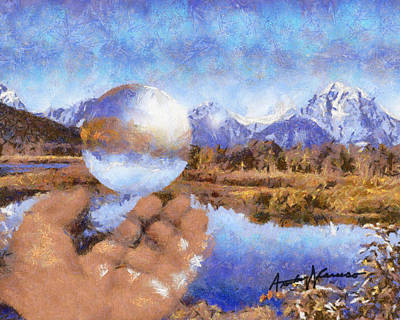 Teton Mixed Media - Catching A Bubble by Anthony Caruso