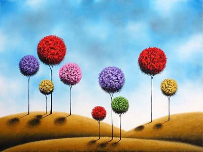Fantasy Tree Art Painting - Catching Dreams by Rachel Bingaman