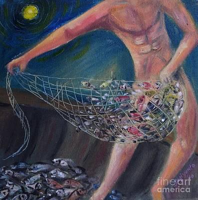 Catching Fish Art Print by Danarta Gondrong