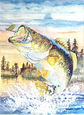 Largemouth Painting - Catching Flies by Glen Ward