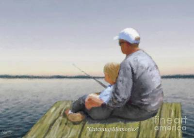 Painting - Catching Memories by Leslie Allen