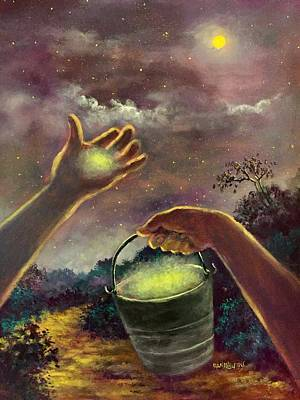 Painting - Catching Moonlight  Hands To Heaven Series by Randol Burns