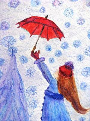 Painting - Catching Snowflakes by Angela Davies