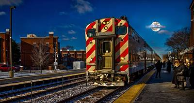 Photograph - Catching The Early Morning Train by Linda Unger