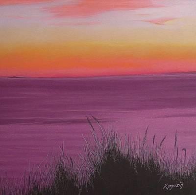 Catching The Mood At Cape Cod Bay Art Print by Harvey Rogosin