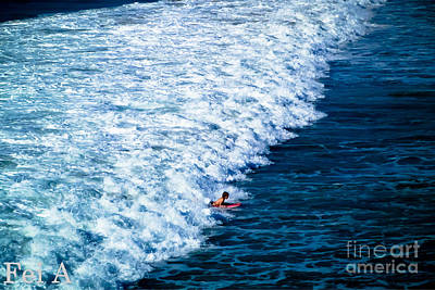 Photograph - Catching The Waves by Fei Alexander
