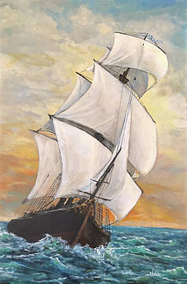 Painting - Catching The Wind by Alan Lakin