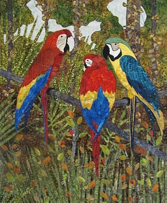Lynda Boardman Art Tapestry - Textile - Catching Up On Gossip by Lynda K Boardman