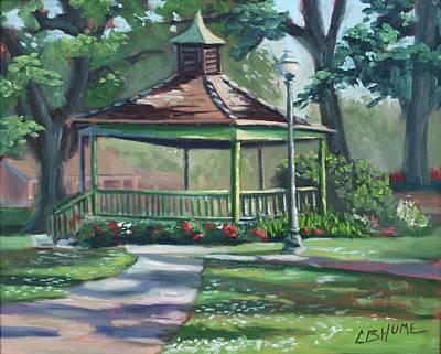 Painting - Cate St Gazebo Hammond Louisiana by CB Hume