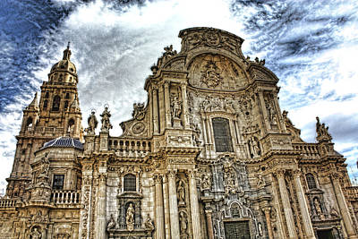 Digital Art - Catedral De Murcia by Angel Jesus De la Fuente