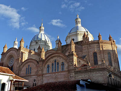 Photograph - Catedral Neuvo Cuenca Ecuador 22 by Jeff Brunton