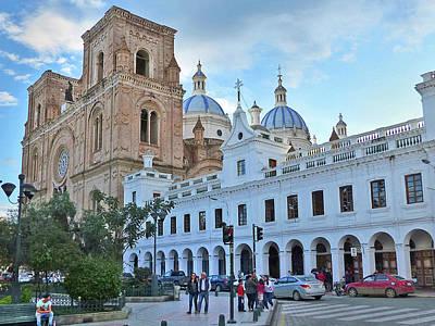 Photograph - Catedral Nuevo Cuenca Ecuador 18 by Jeff Brunton