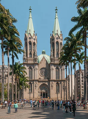 Photograph - Catedral Of Se In Sao Paulo by Wilfredo R Rodriguez
