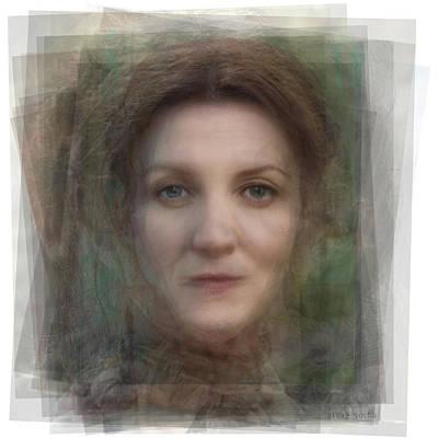 Hbo Digital Art - Catelyn Stark Game Of Thrones by Steve Socha