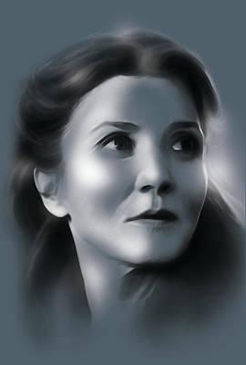 Catelyn Stark Art Print by Marina Pacurar