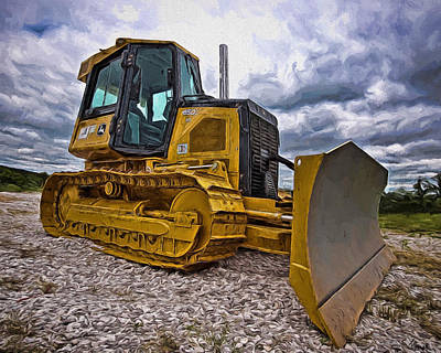 Painting - Caterpillar 650j by Joe Sparks