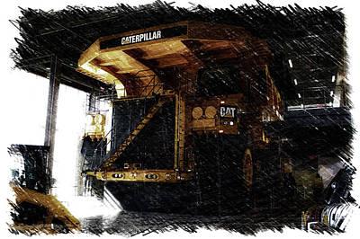 Headlight Mixed Media - Caterpillar 797f Mining Truck Pa  by Thomas Woolworth