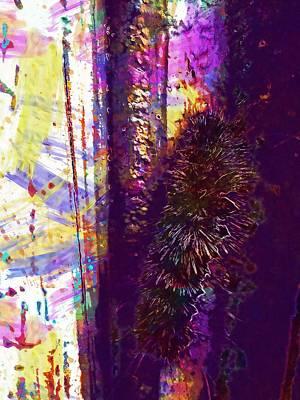 Fuzzy Digital Art - Caterpillar Climbing Fuzzy Insect  by PixBreak Art