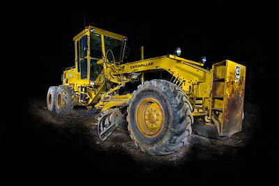 Caterpillar Grader Art Print
