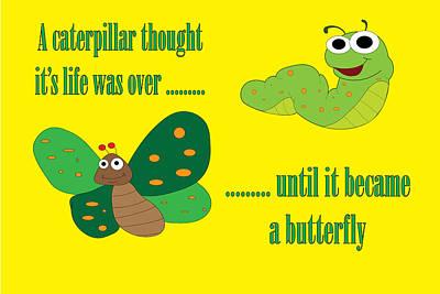 Animal Paintings David Stribbling - Caterpillar Motivation by Karen Foley