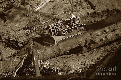 Photograph - Caterpillar Sixty With Bulldozer Blade Circa 1920 by California Views Mr Pat Hathaway Archives