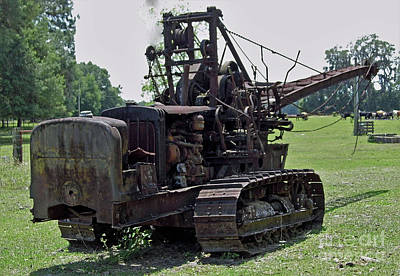 Photograph - Caterpillar Tractor Crane by D Hackett