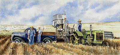 Pickup Painting - Catesby Cuttin' 1938 by Sam Sidders